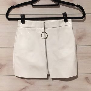 White leather skirts